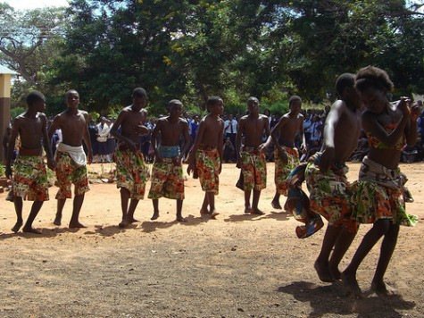 Mukuni Basic School tradtional dance