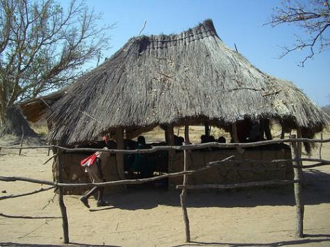 Old classroom at Silello, Zambia