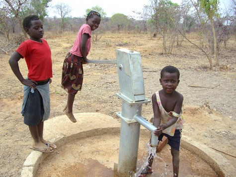 New bore hole Mukuni Zambia