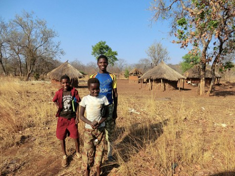Rural village in Zambia