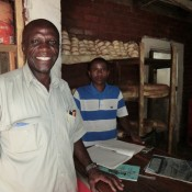 Stain Musengaila in his Livingstone bakery