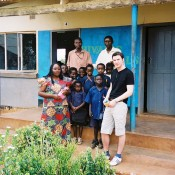 Volunteer David Kaye taking donations to Zambia