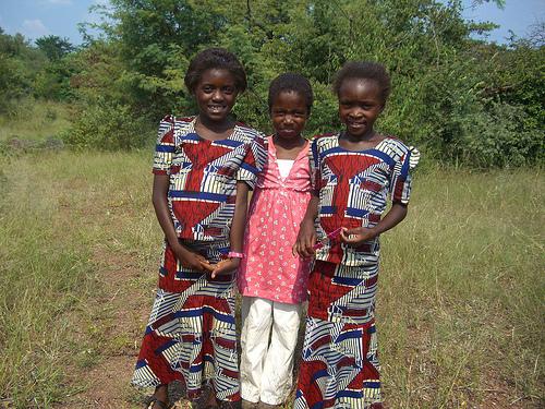 Esnat, Cynthia & Angela attend Mukuni Basic School