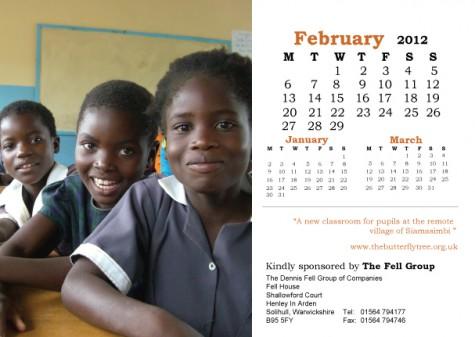 2012 Charity Calendar February
