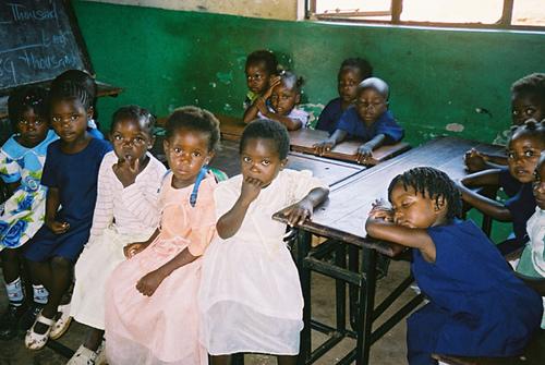 Mukuni Pre-school Children before The Butterfly Tree
