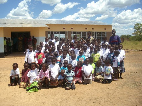 New school at Mandandi, Zambia