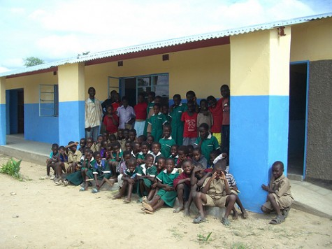 New school at Silelo, Zambia