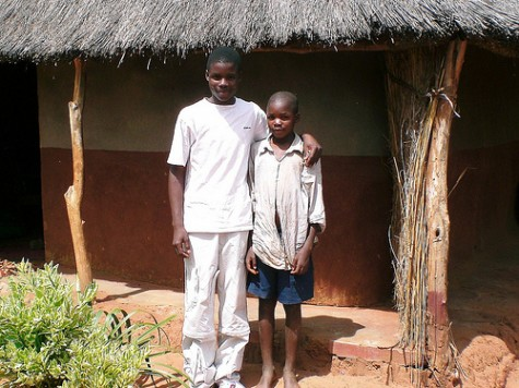 Orphan Sponsorship: Peter with brother Mishek