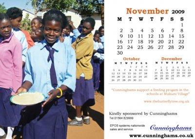 Charity calendar November