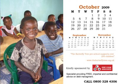 Charity calendar October