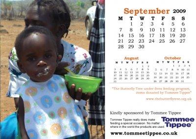 Charity calendar September