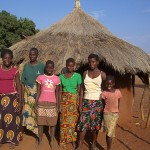 Five orphaned girls living with their grandmother in N'gandu Village